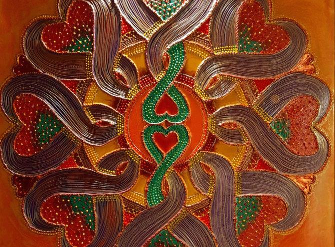 Mandala Miłości I – 60×60