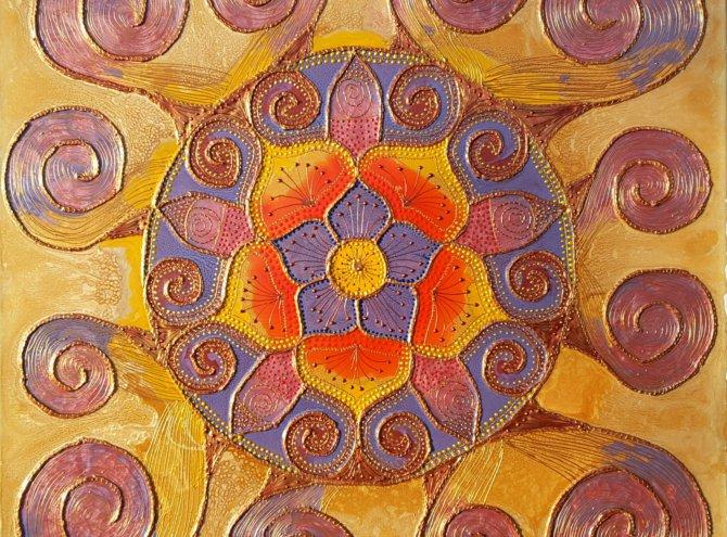 Mandala Ochronna I – 60×60