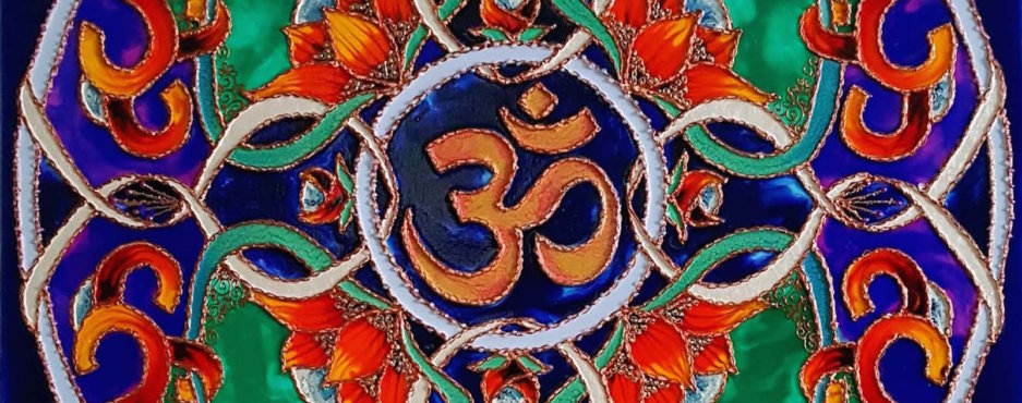 Mandala ze znakiem OM