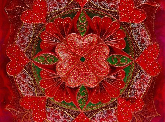 Mandala Miłości II – 60×60