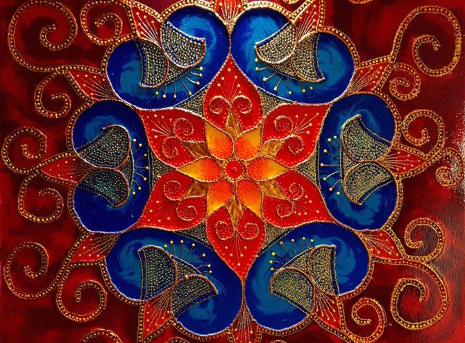 Mandala Szczęścia I – 60×60