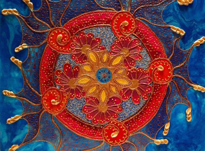 Mandala intencyjna – w prywatnej kolekcji 60×60