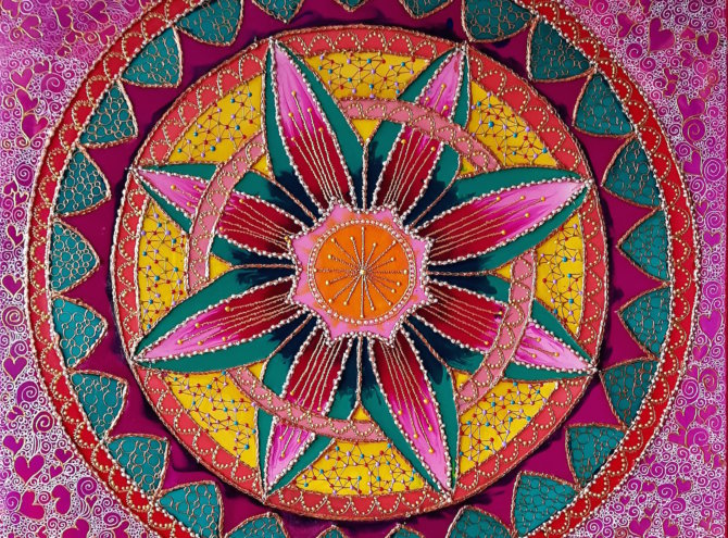 Kwiat Szczęścia – 60×60