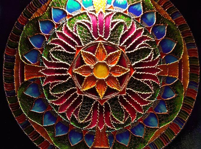 Mandala Szczęścia i Bogactwa – 60×60