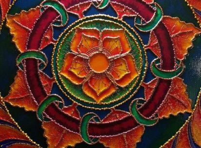 Mandala wszelkiej pomyślności – 60×60