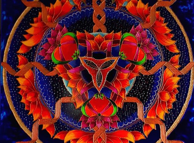 Mandala Miłości, Ochrony i Wew. Siły -100×100