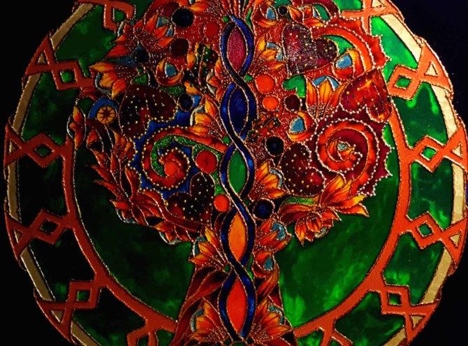 Drzewko Szczęścia II – 60×60